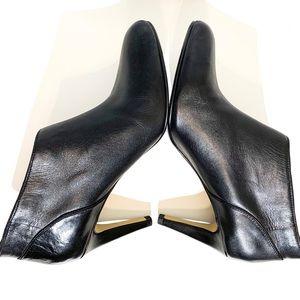 Adrienne Vittadini Shoes - Adrienne Vittadini Tikki Black Leather Booties 8.5